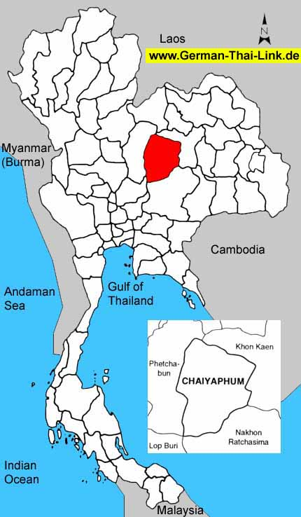 Chaiyaphum Thailand  city images : Chaiyaphum is located almost at the center of Thailand about 342 ...